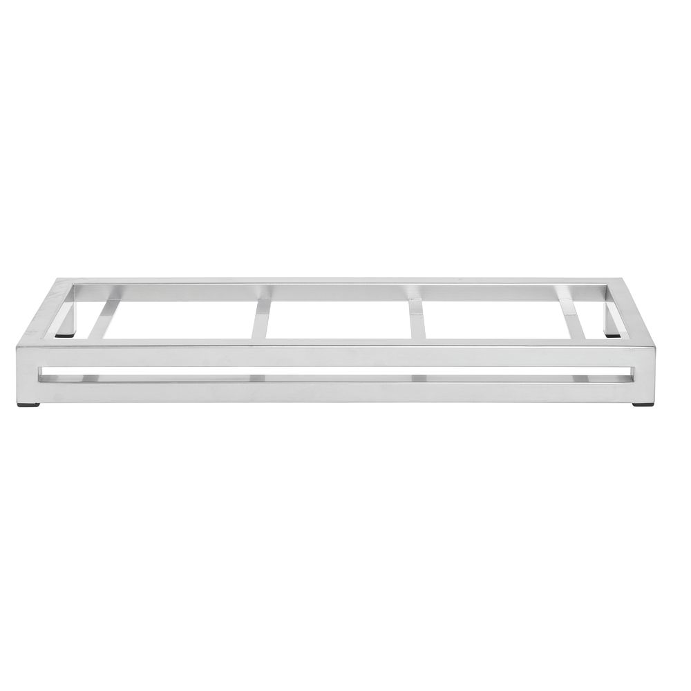 "Expressly Hubert® Display Riser Silver 6""L x 20""W x 2""H"