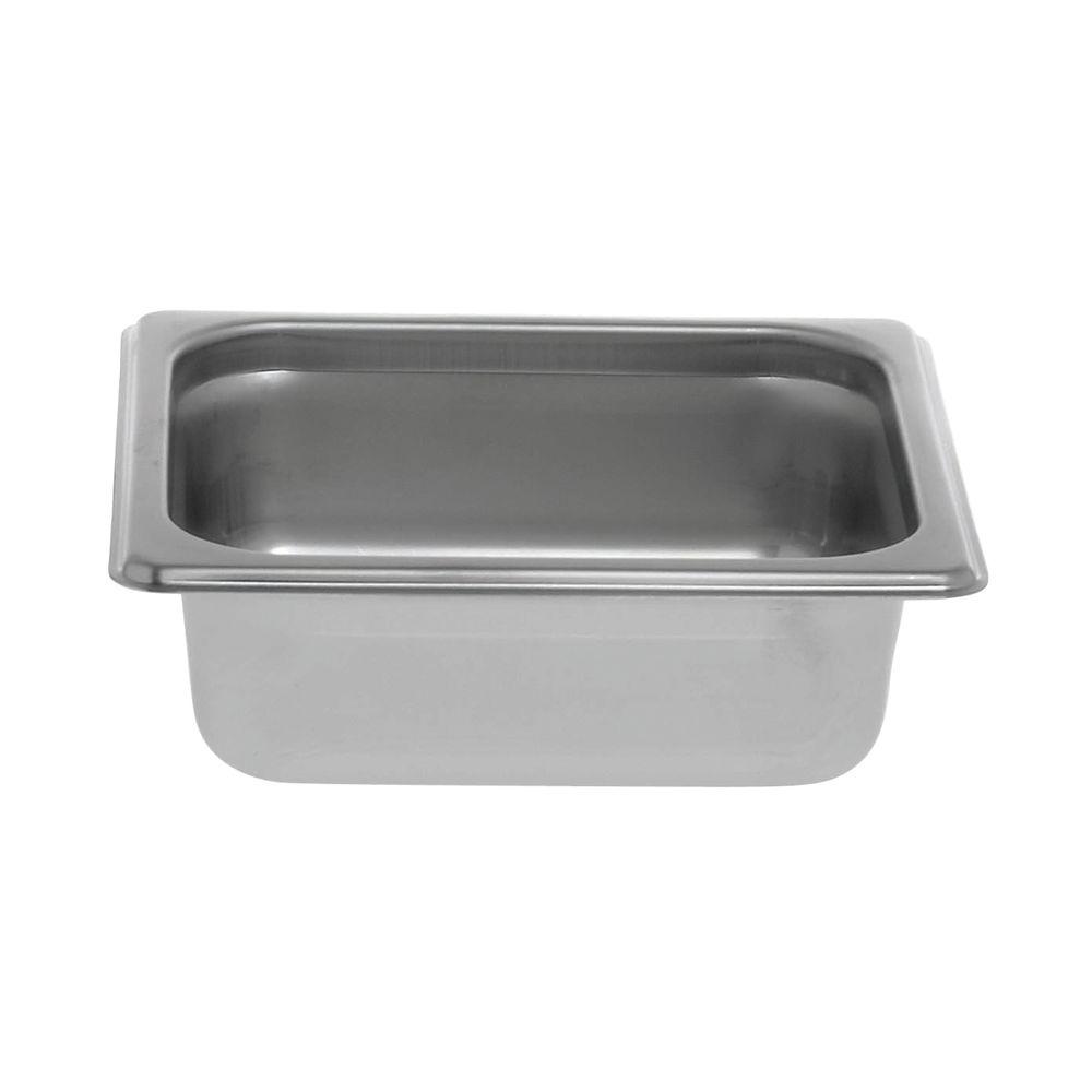 "Hubert Stainless Steel Food Pan 1/6 Size 2 1/2""D"