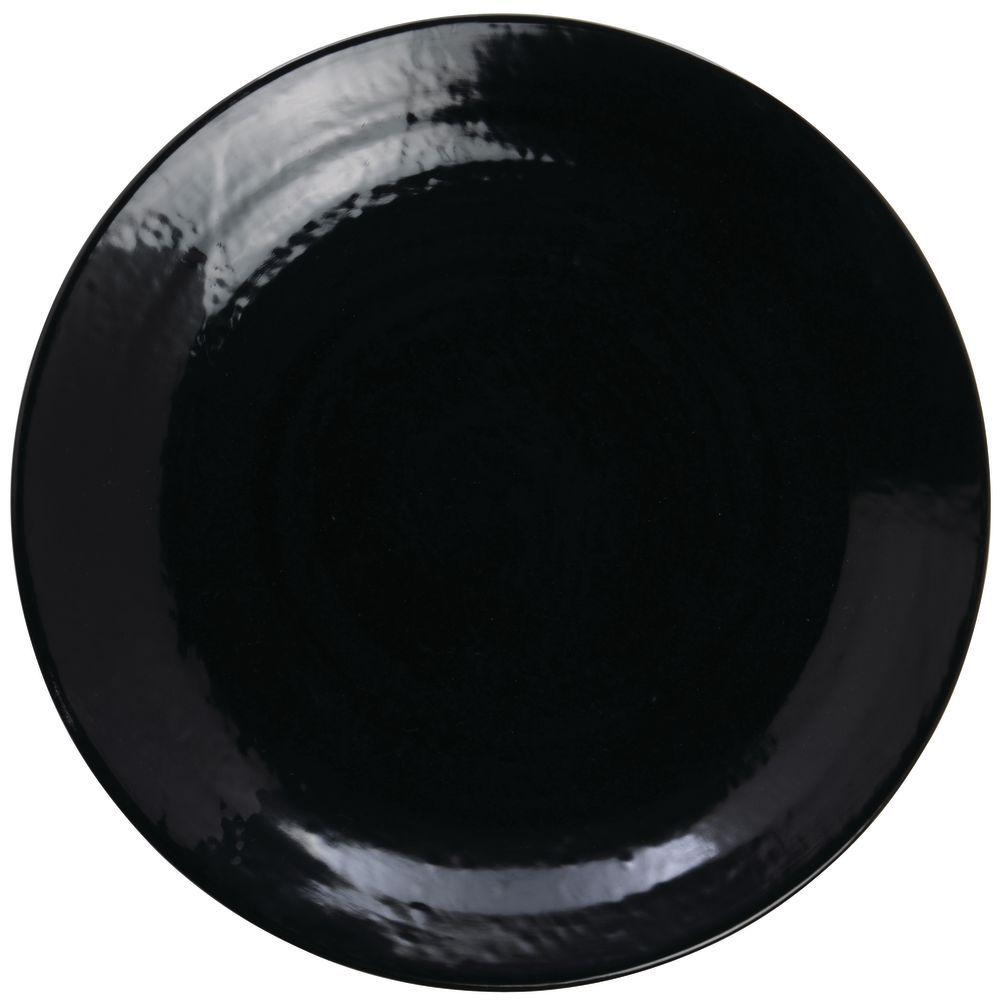 """Elite Pebble Creek Melamine Dinner Plates 8 1/4"""" White"""