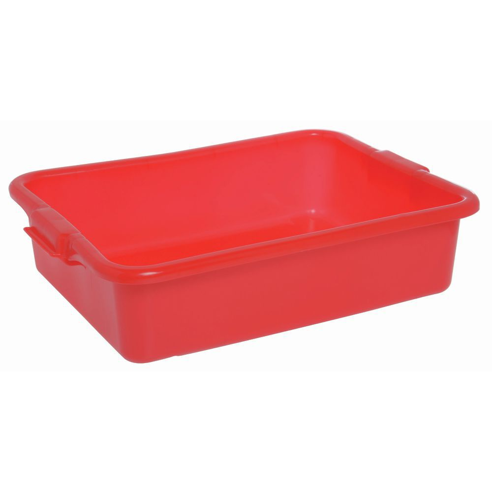 "BOX, COLORMATE FOOD, 5""H SOLID, POLY, RED"