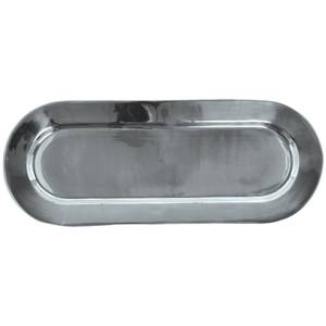 TRAY, OBLONG, POLISHED ALUM, 26.25X10.25X1