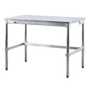 TABLE, S/S TOP, ALUM FRAME, 24X48