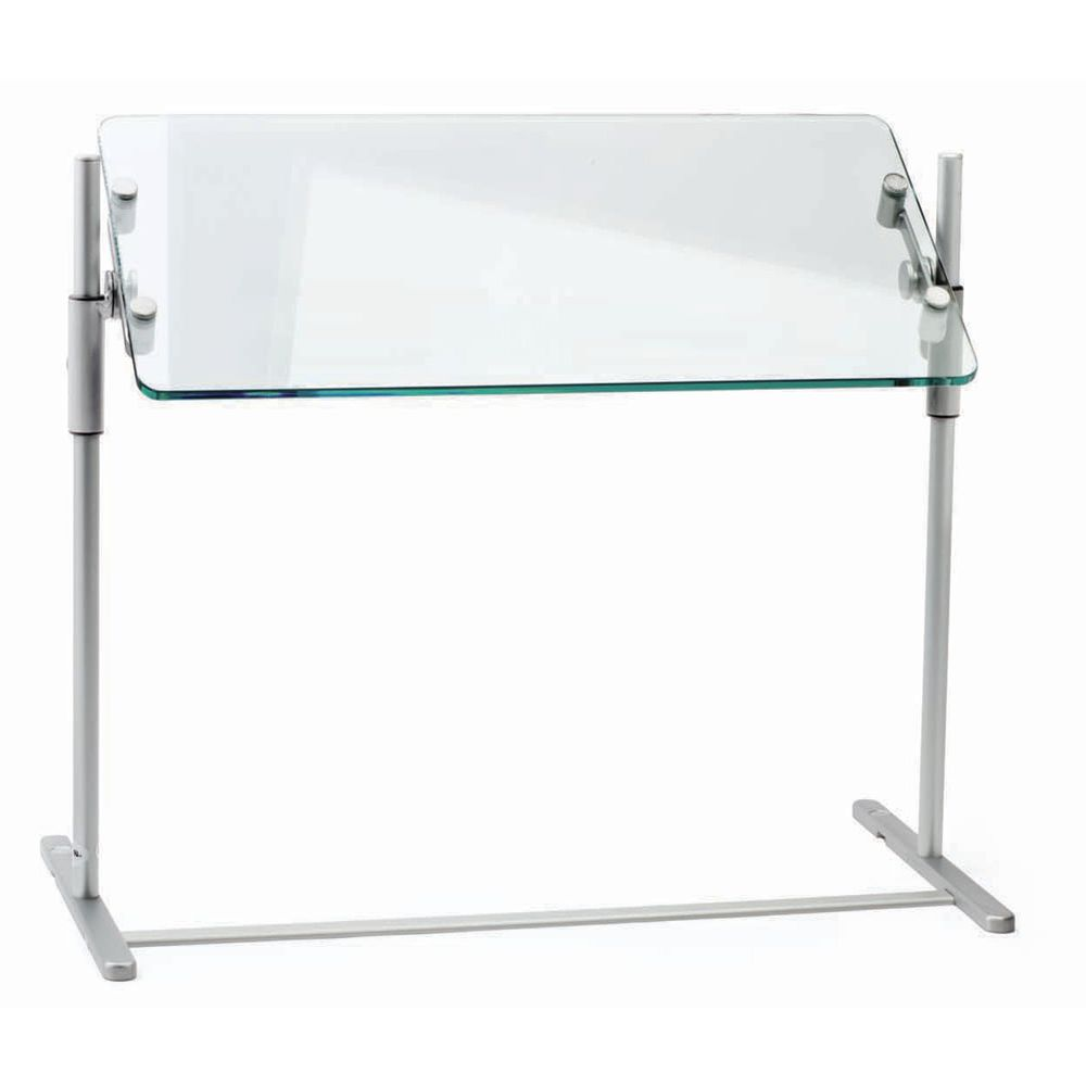 "Z Guard Portable Commercial Sneeze Guard 23"" L x 18"" W x 23""H Round Corners Aluminum"