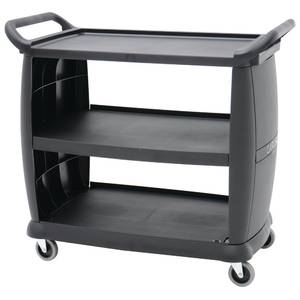 CART, UTILITY, LRG, BLACK TRANSPORT, 42X23