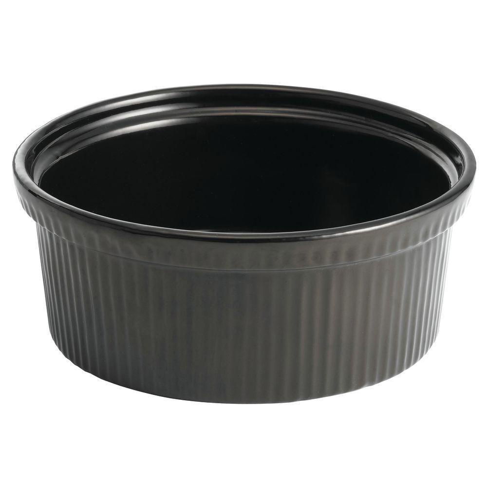 Tablecraft® Ribbed Black Metal Bowl Coated Aluminum 2 Qt