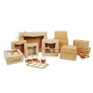 BOX, BKRY, KRAFT 1-PC, 9X9X4, NON-WINDOW