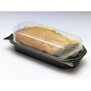 BOX, HOAGIE/SNACK -HINGED BLK/CLR