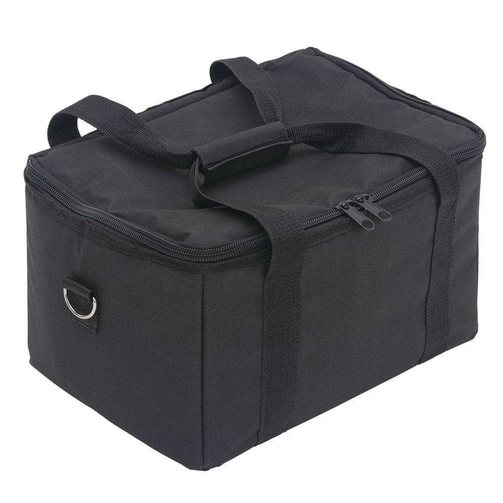 HUBERT Black Nylon Hot/Cold Beverage Delivery Bag