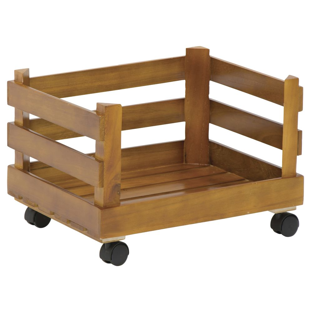 CRATE, STACKING, MEDIUM, W/CASTERS