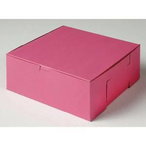 """BOX, BAKERY, PINK, 10""""LX10""""WX4""""D"""