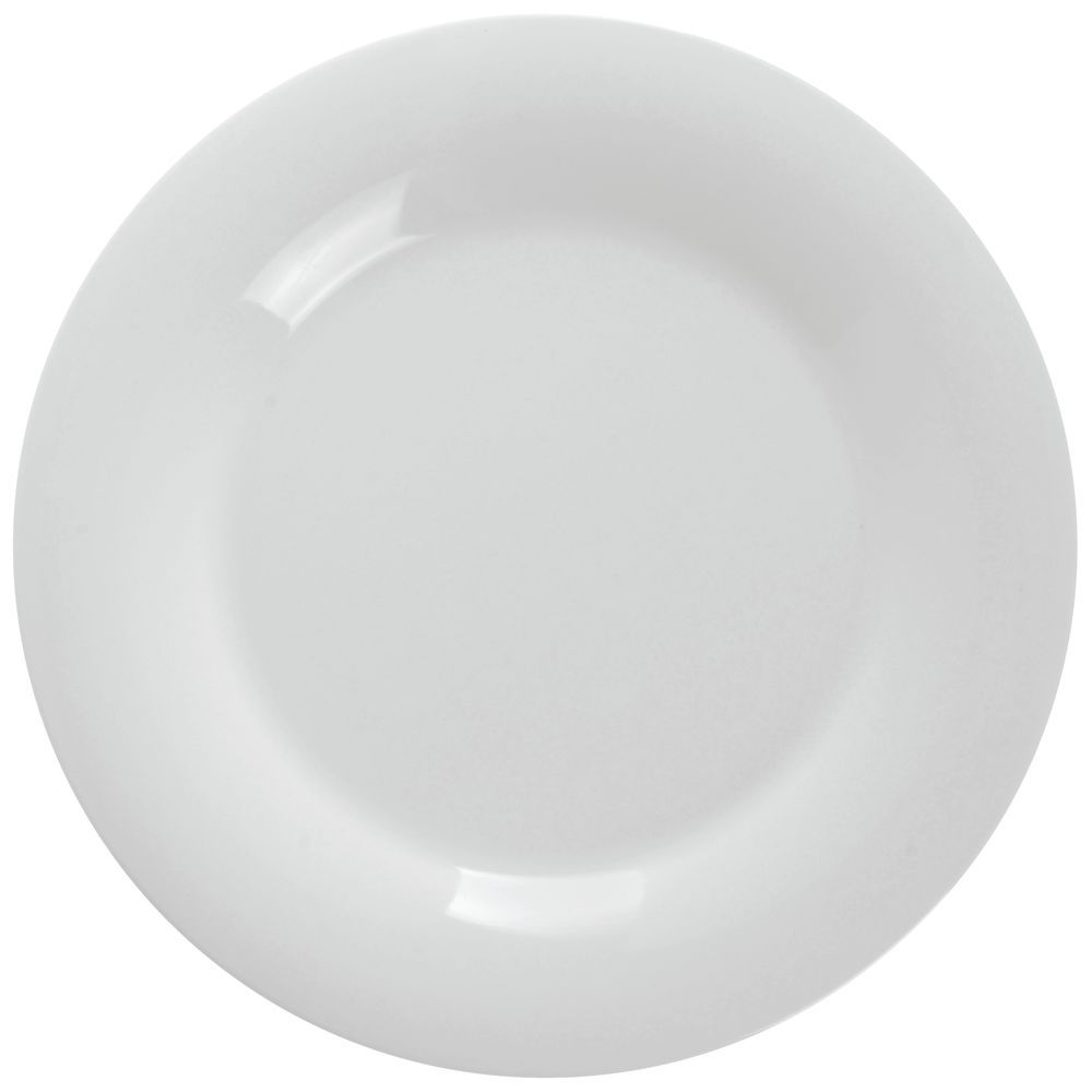 G.E.T. Diamond White Dinner Plates with Wide Rim