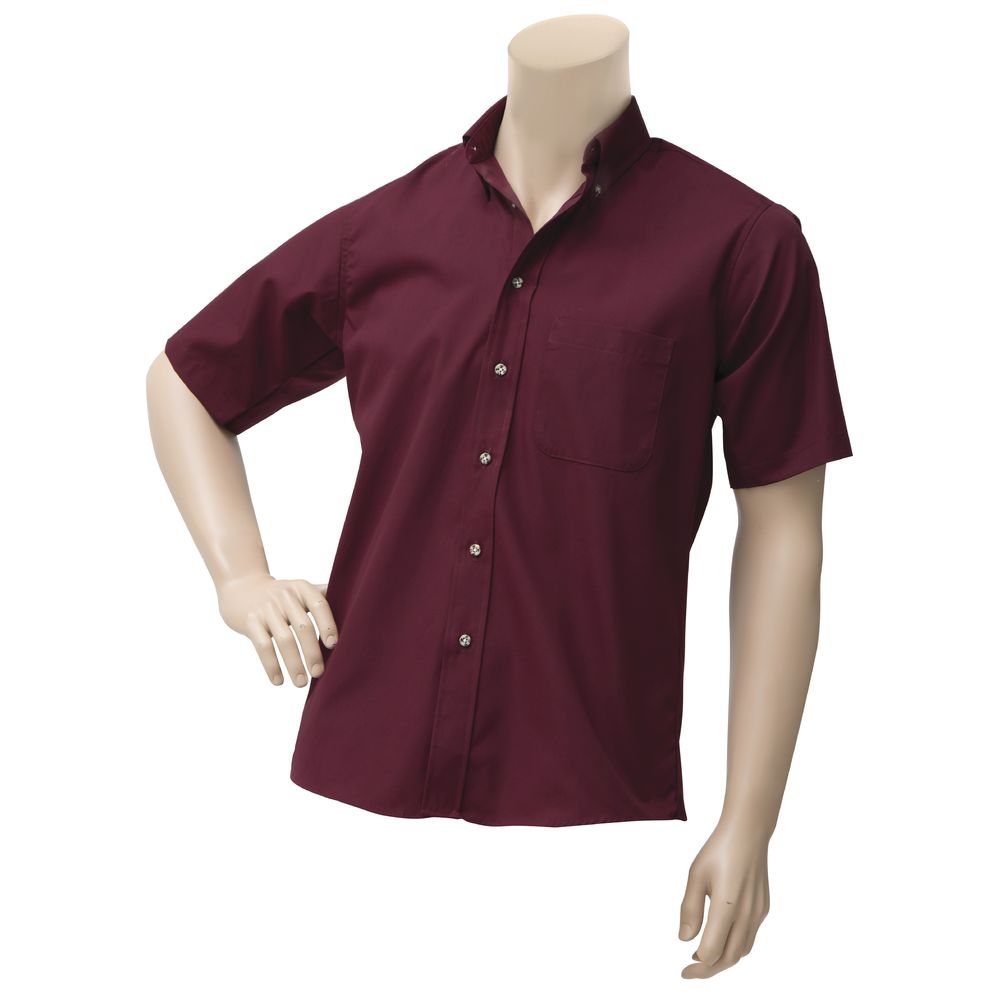 Dexter Chef Revival Burgundy Poly Cotton Men S Short Sleeve Dress
