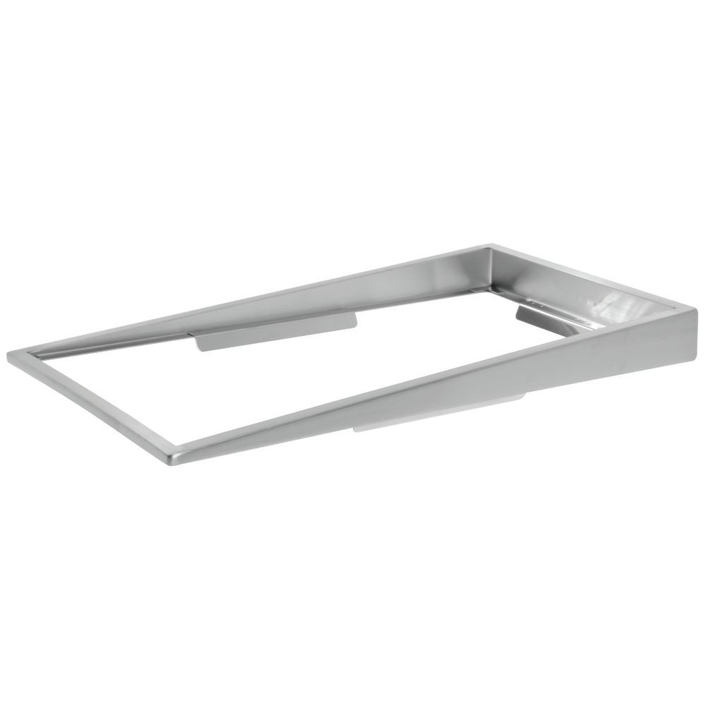 """Stainless Steel 12""""L x 22""""D x 2""""H Back x 1/2""""H Front Food Pan Riser"""