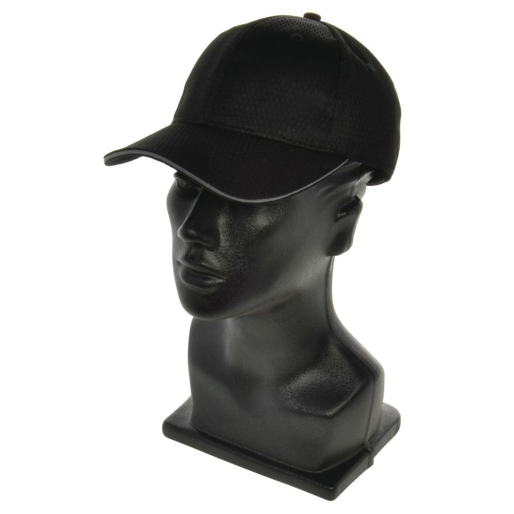 CAP, BASEBALL, W/TRIM, COOL VENT, BLACK/GREY