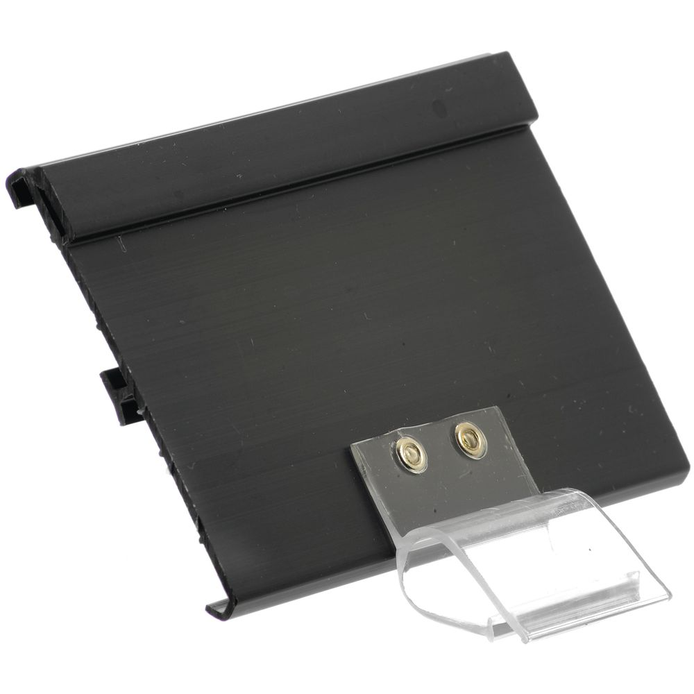 """Double Channel Sign Holder With Bowl Clip2 1/2""""H x 4""""L"""