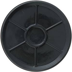 "TRAY, BLACK ONYX 18"" ROUND 6 SECTION"
