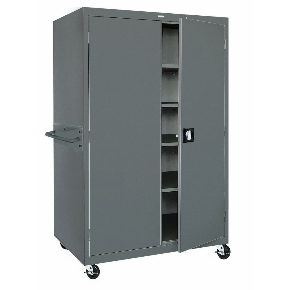 CABINET, MOBILE, STORAGE, 36X24X78, BLACK
