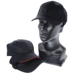 CAP, BASEBALL, W/TRIM, COOL VENT, BLACK/RED