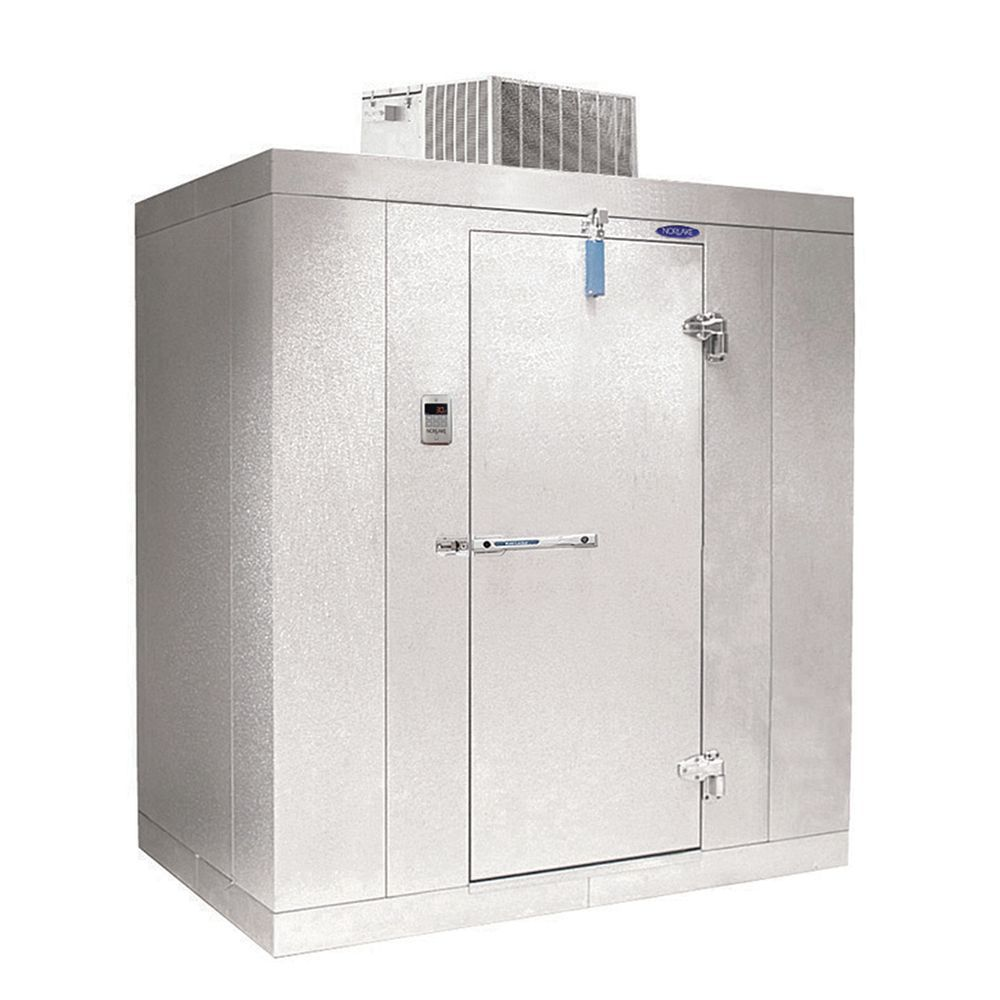 Norlake Kold Locker™ 473 Cu Ft Indoor Walk In Freezer With Floor Right Hinge,  Door On Center Of 10u0027 Wall   96L X 120W X 91H