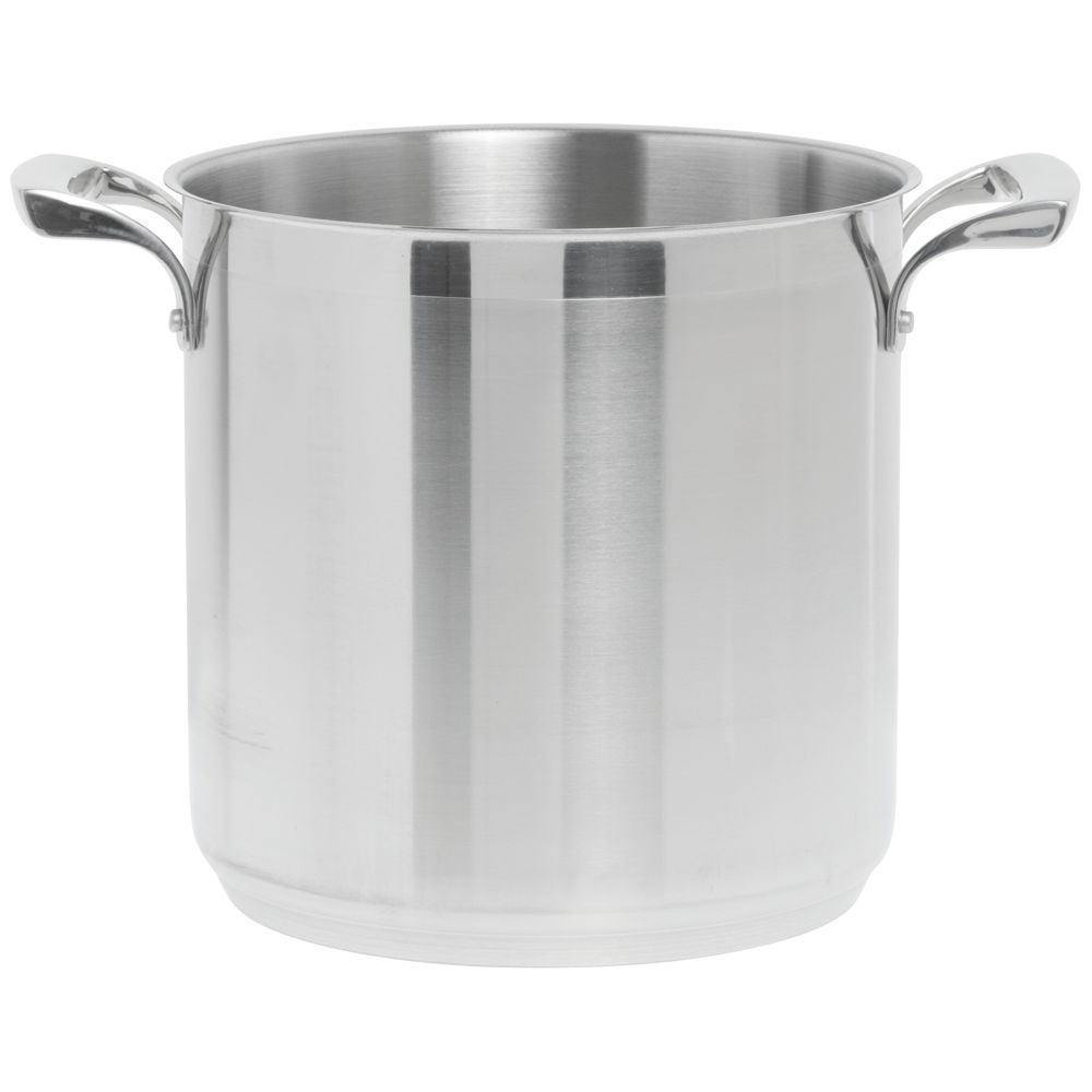 Browne ThermalloyR 8 Qt Stainless Steel Stock Pot