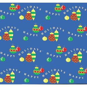 "COUNTERWRAP, HOLIDAY ORNAMENTS 48"" X 25'"