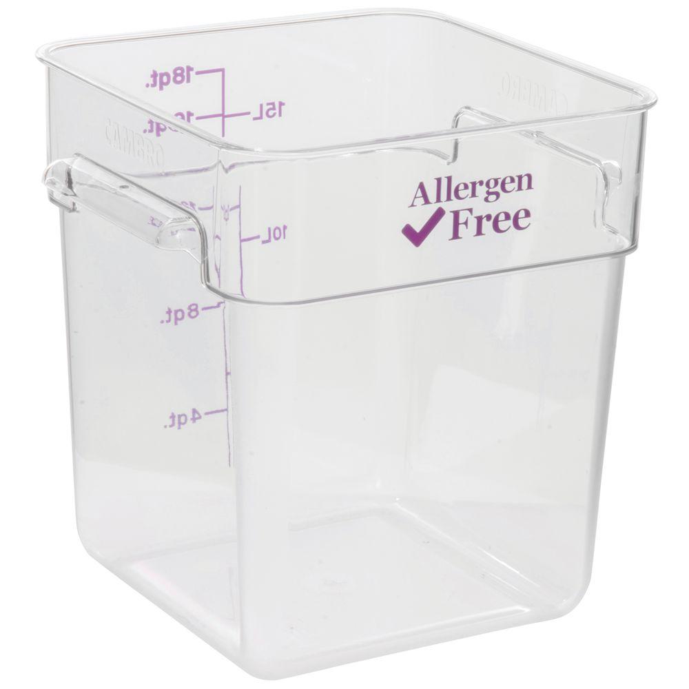 BOX, 18QT, ALLERGEN SAFE