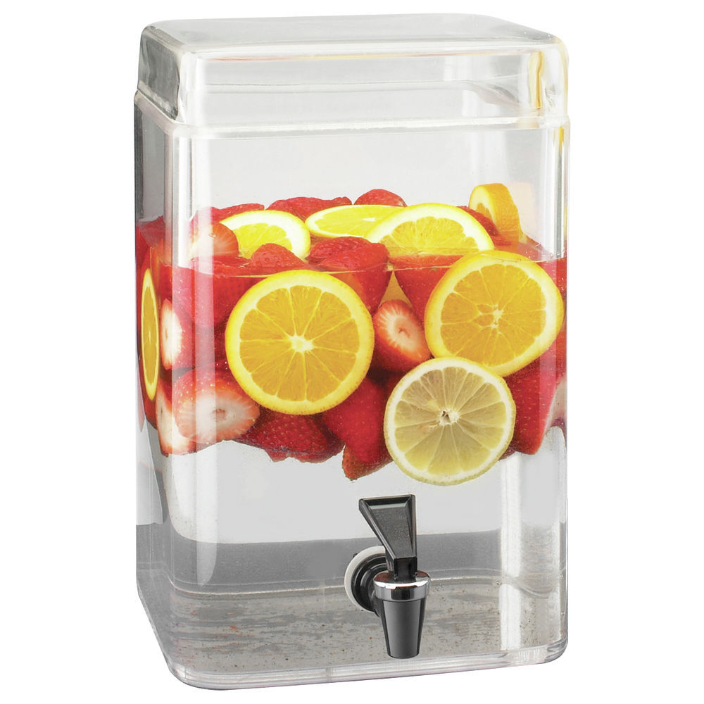 DISPENSER, FUSION, SQUARE, GLASS, 2 GALLON