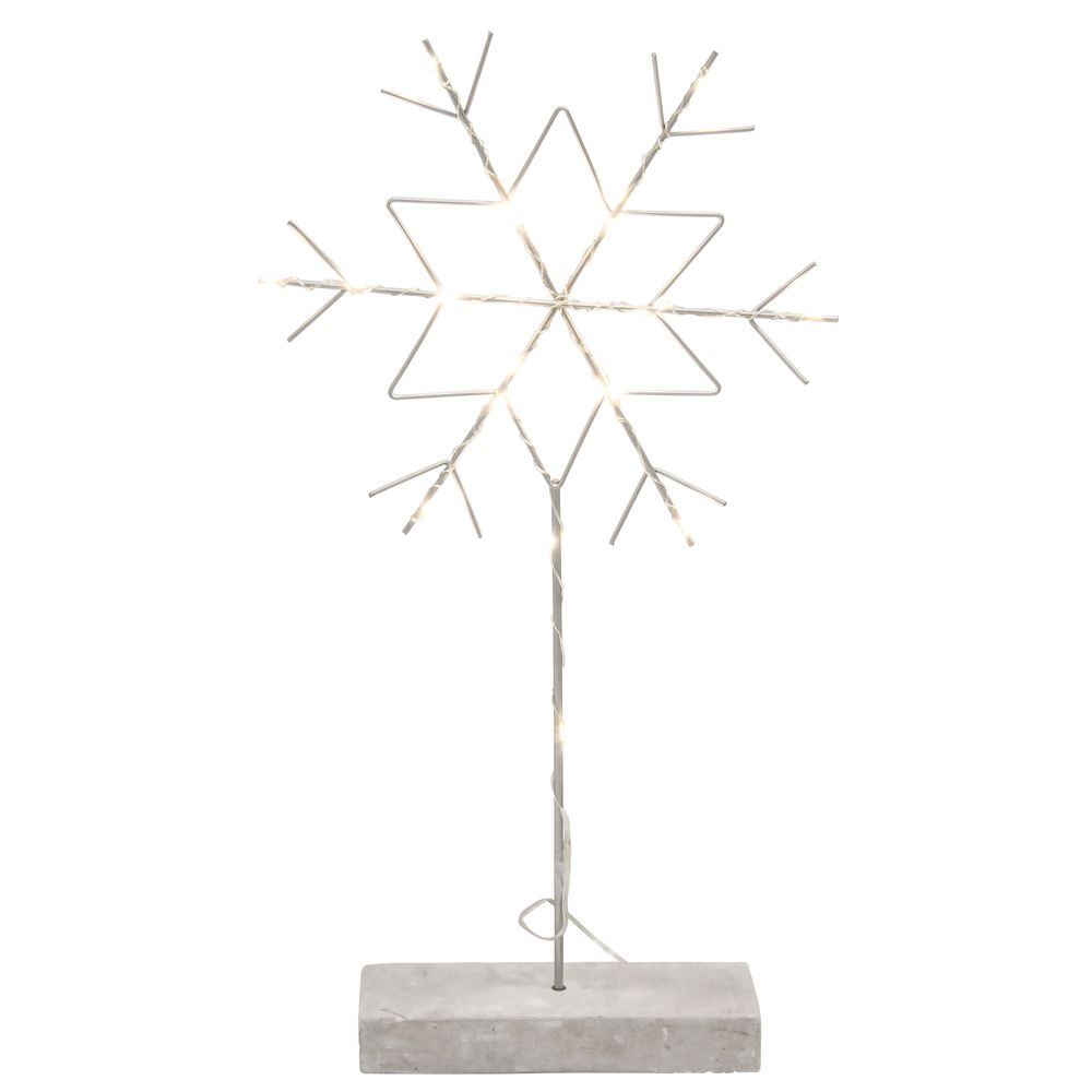 """SNOWFLAKE, METAL ON STAND, LED, 19""""H 2/PACK"""