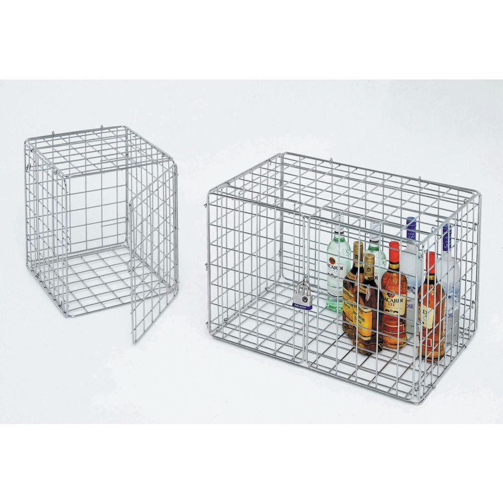 Wire Security Cage | Hubert Chrome Wire Lockable Security Cage 18 L X 18 W X 15 H
