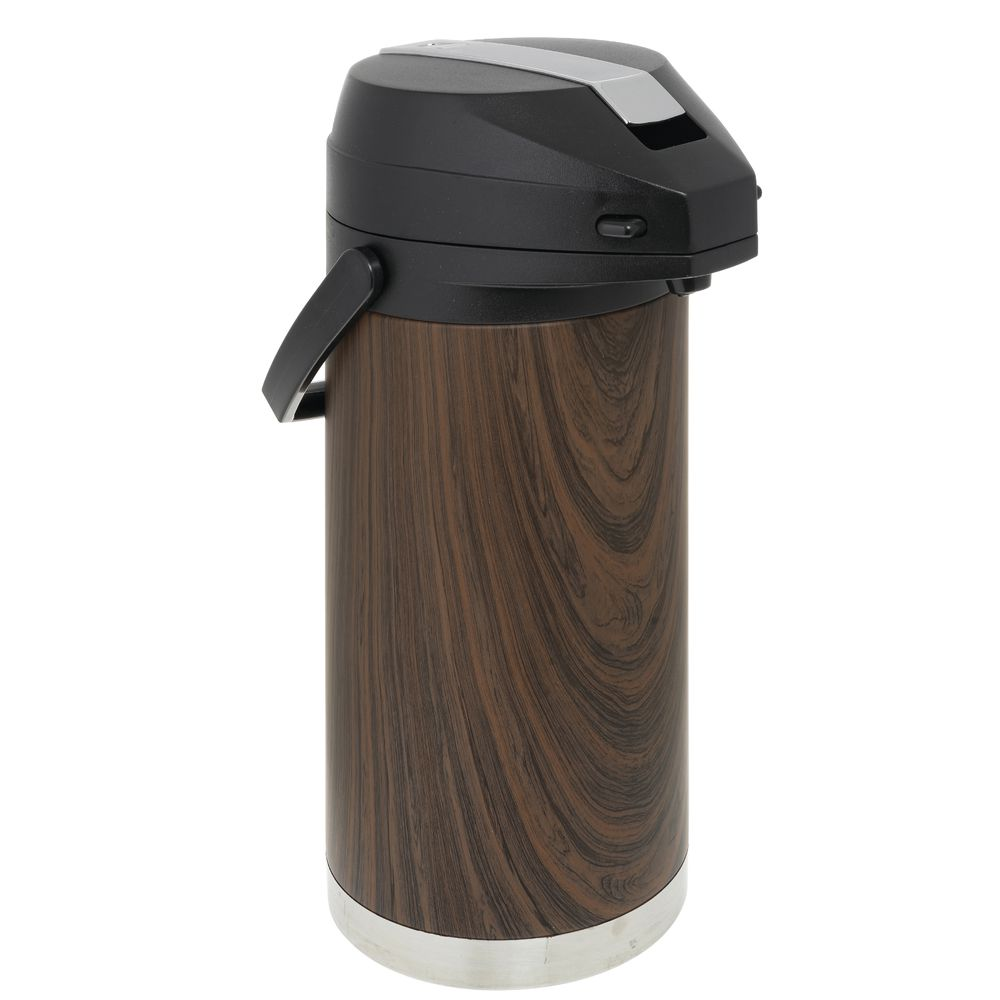 AIRPOT, DARK WOOD, STAINLESS, LEVER, 3.7L