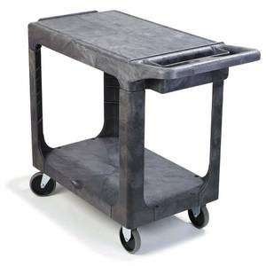 "CART, UTIL.2-SHELF, 40X19"", GREY, ""HUBERT"""