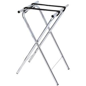 "TRAY STAND, DELUXE CHROME 32""H"