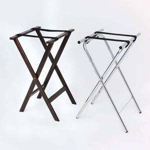 """TRAY STAND, DELUXE CHROME 32""""H"""