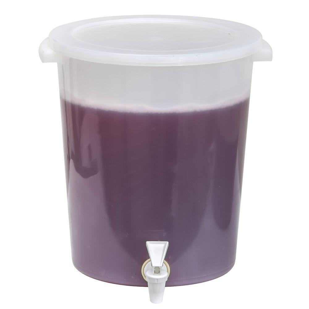 Hubert 174 12 Qt White Polyethylene Beverage Dispenser