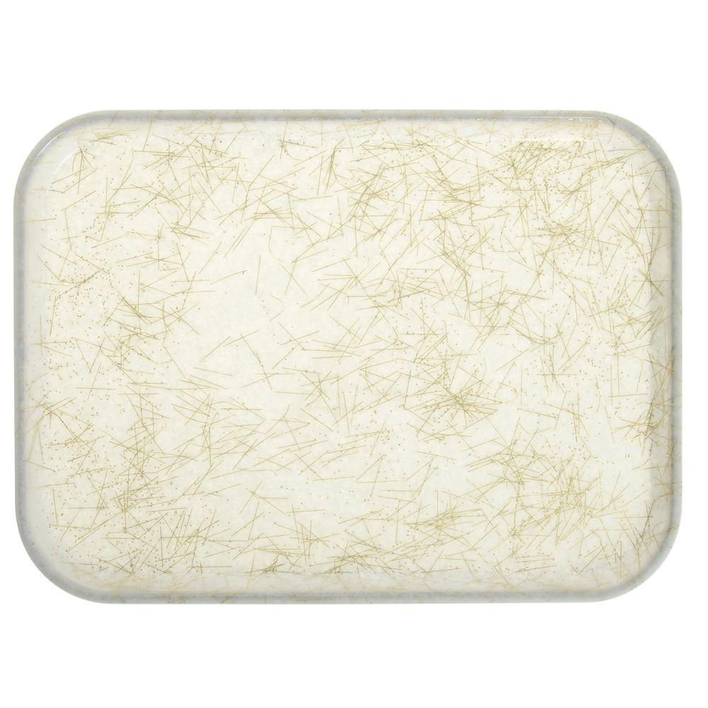 "Cambro Fiberglass Tray Gold Antique Parchment 16""L x 12""W"