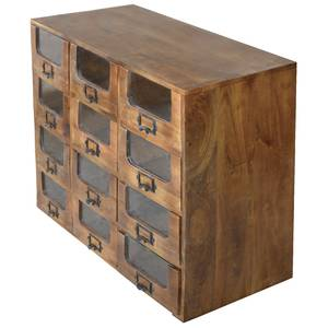 CABINET, APOTHECARY, 12-DRAWER, MANGO WOOD