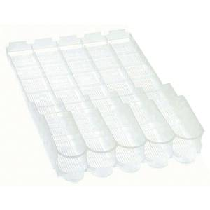 SHELF SLIDE, 2LITR.5-WIDE, PLAS., 4-3/8""