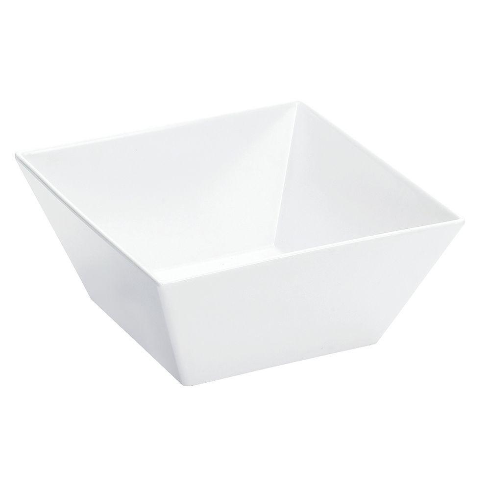 Melamine White Diamond Bowl 4 qt