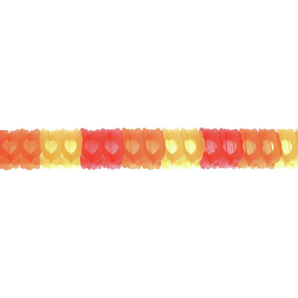 GARLAND, ARCH, RED/ORANGE/GOLD, 12'L