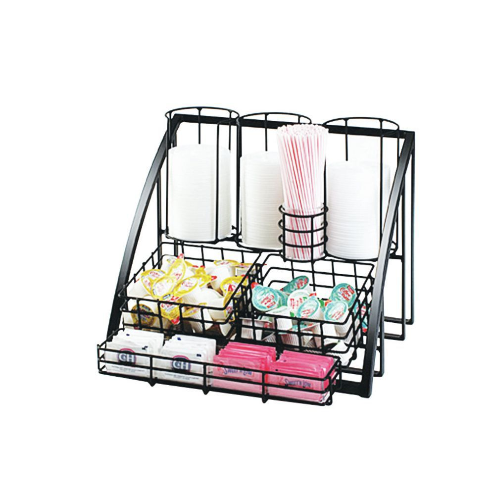 Coffee Condiment Organizer with Various Storing Space.