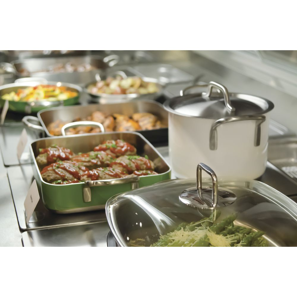 Expressly HUBERT® Stainless Steel Sauce Pot White 3L