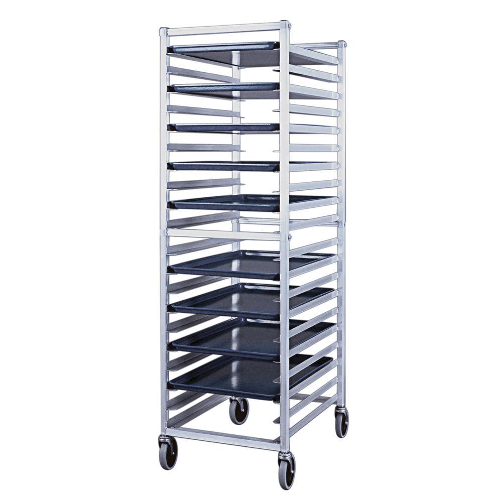New Age Aluminum 20 Pan Capacity End Load Bun Pan Rack - 26