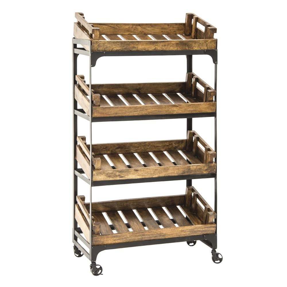 CRATE STAND, FARMERS, LARGE, W/4 CRATES