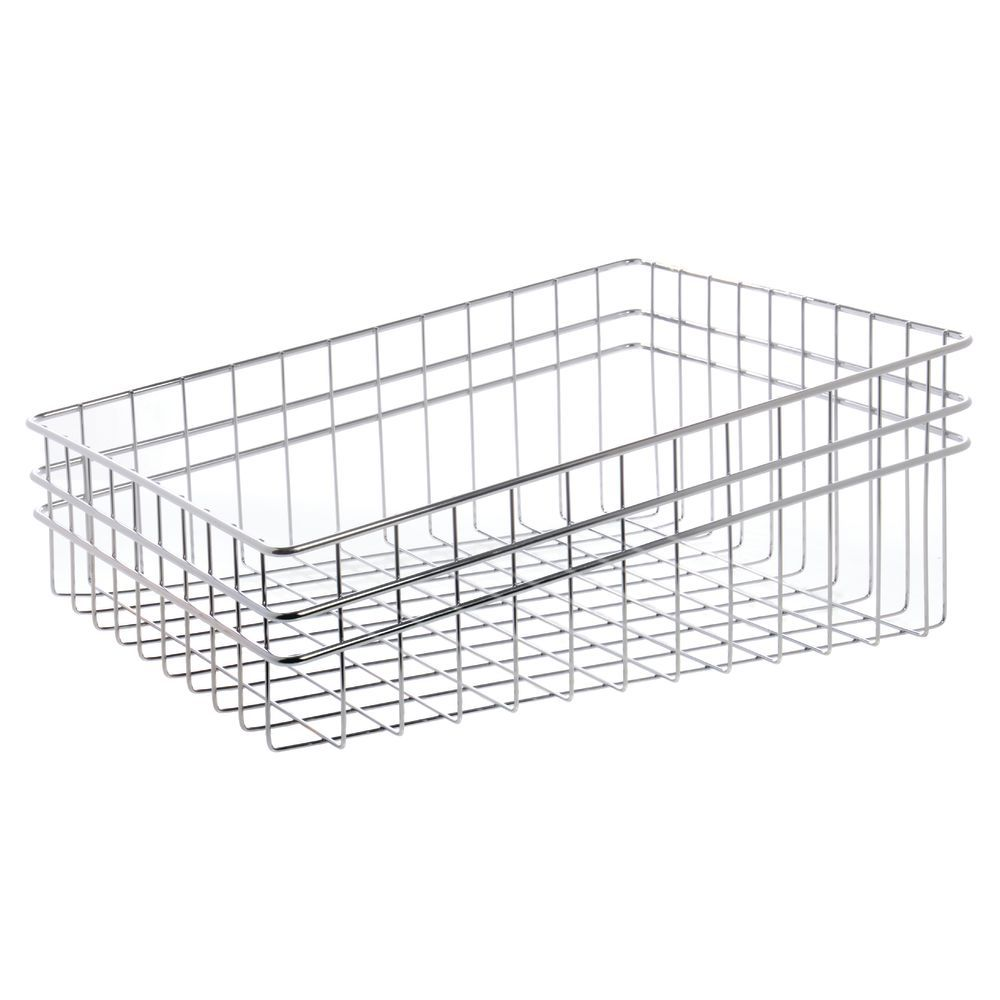 HUBERT Chrome Wire Tapered Bread Basket - 16L x 19 1/2W x 8H
