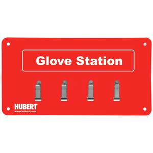 GLOVE STATION, 4-CLIP, W/MOUNTING HARDWARE