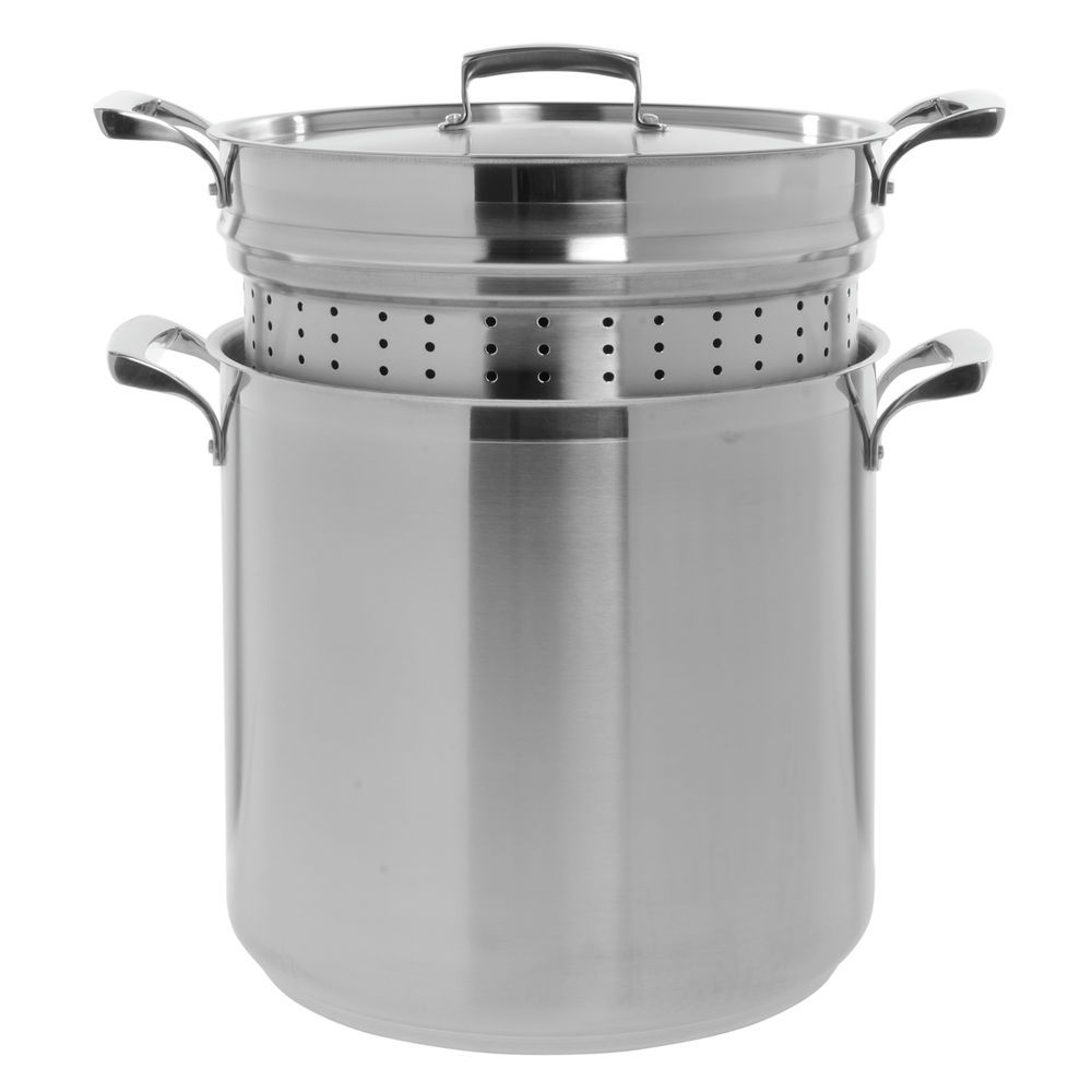 Browne Thermalloy 20 Qt Stainless Steel Pasta Cooker 13dia X 14