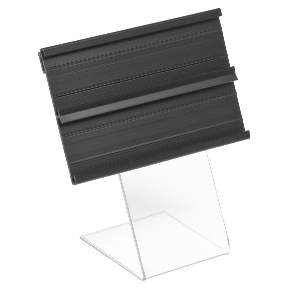 """Double Channel Sign Holder With Clear Easel 2 1/2""""H x 4""""L"""