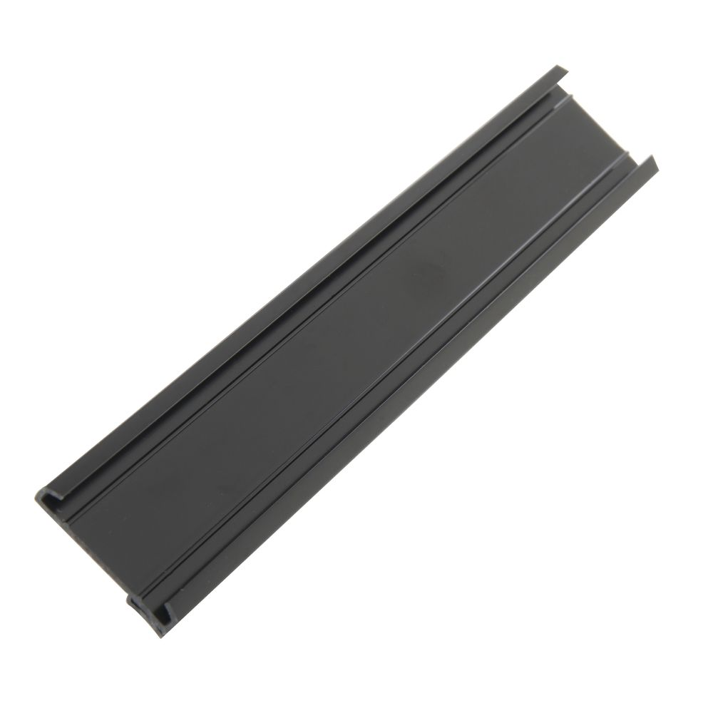 """Single Track Produce Sign for Wire Basket.1 1/4""""H x 8""""L Black"""