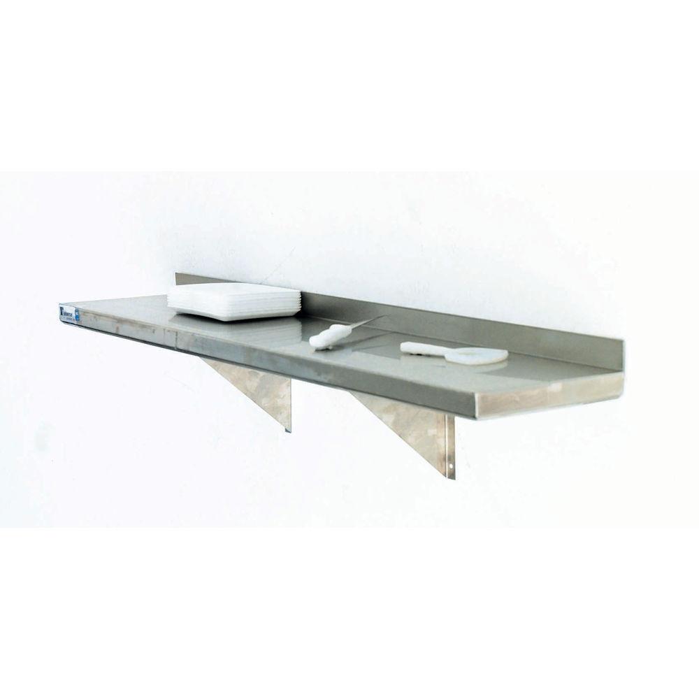 HUBERT Wall Shelf 18 Gauge Stainless Steel 48L x 12W