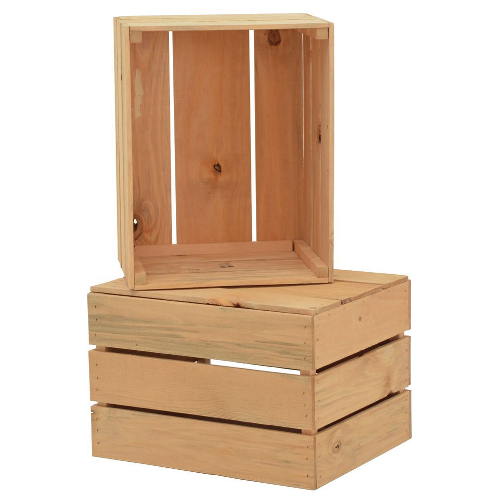 CRATE, STACKING, OAK SOLID PINE, 17.5X14X